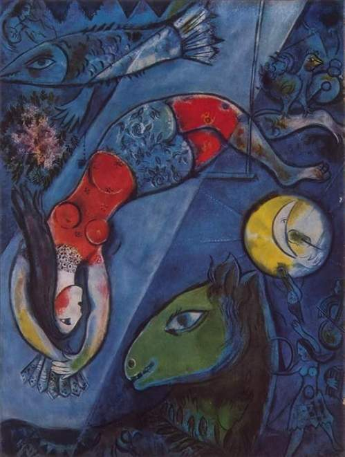 Chagall Marc - Illustration for the Book Marc Chagall. Cirque Paris 1967