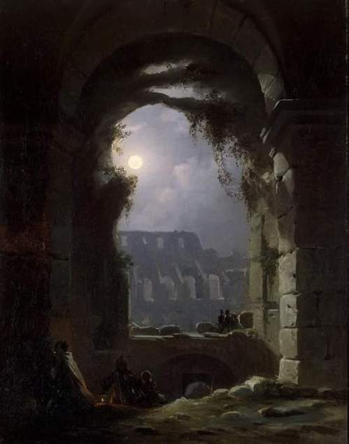 Carus Carl Gustav - View of the Colosseum by Night