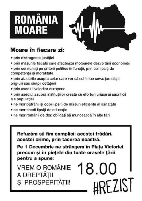 Nu lăsați România să moară:  #rezist !