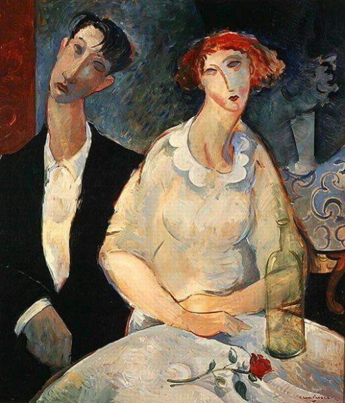 At the Restaurant, Glen Preece Modigliani