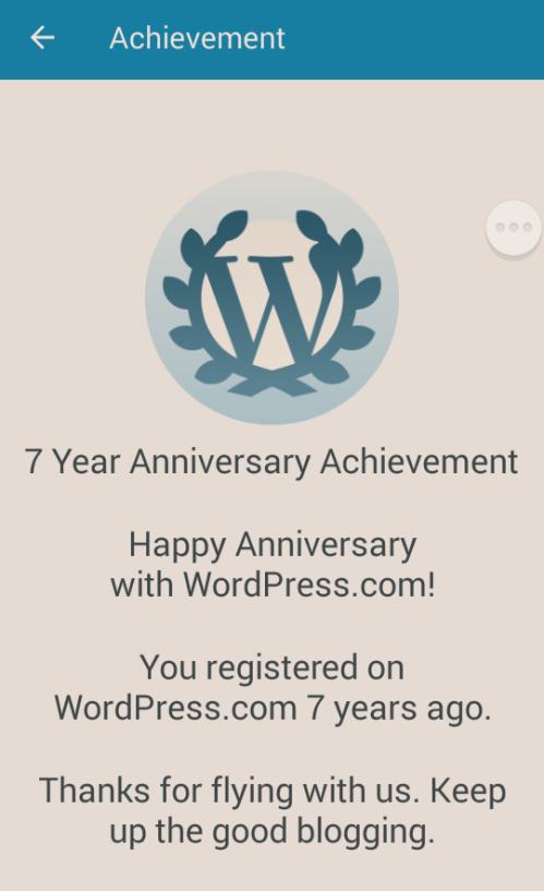 7 Years Anniversary Achievement