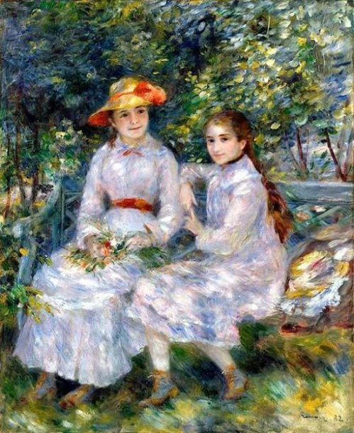 The Daughters of Durand-Ruel - Pierre Auguste Renoir