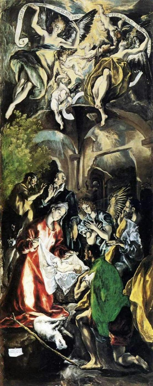 Adoration of the Shepherds. El Greco. 1596-1600
