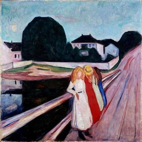 Edvard Munch - Four girls on the bridge, 1905.