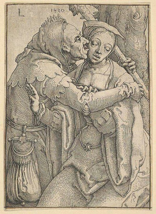 A Fool and a Woman Lucas van Leyden, 1520.