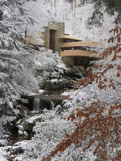 Residencia Kaufmann (Fallingwater), Pennsylvania, USA, 1937 Frank Lloyd Wright via: http://bit.ly/2mEuJDZ