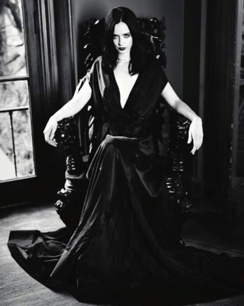 Morticia goth vibes inside BUST Magazine
