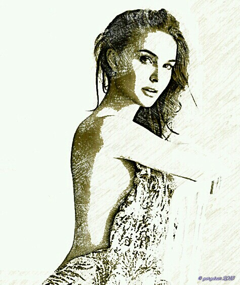 Natalie Portman color pencil 2 sketch