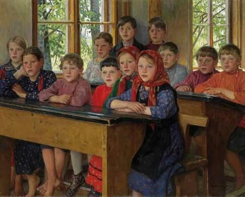 Nikolai Petrovich Bogdanov-Belsky: The schoolroom