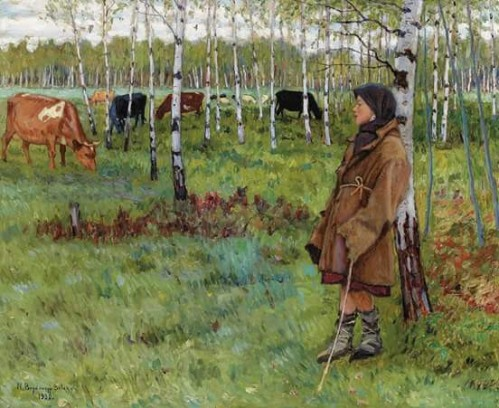 Nikolai Petrovich Bogdanov-Belsky: Daydreaming among the birches