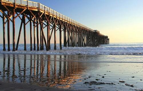 Pier, W.R. Hearst State Beach, San Simeon, Calif.