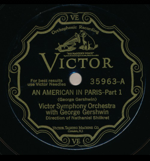 First recording of An American in Paris
