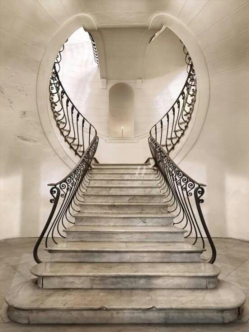 Scala Bianca, Palazzo Albertini da Cimitile, Napoli, Italyvia: http://bit.ly/2poaSKL