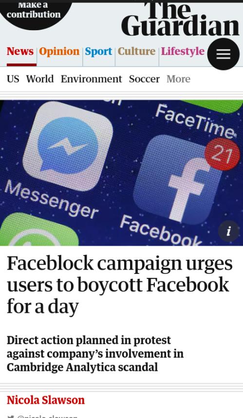 Faceblock campain