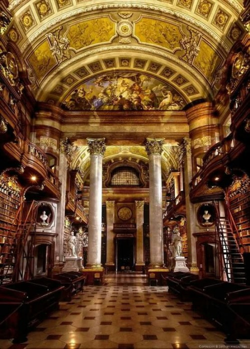 Imperial Library, Hofburg Imperial Palace, Vienna, Austria via: http://bit.ly/2HKNKgX