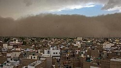 2018 Indian dust storms: across parts of Uttar Pradesh and Rajasthan states in northern India, killing at least 110 people and injuring over 200