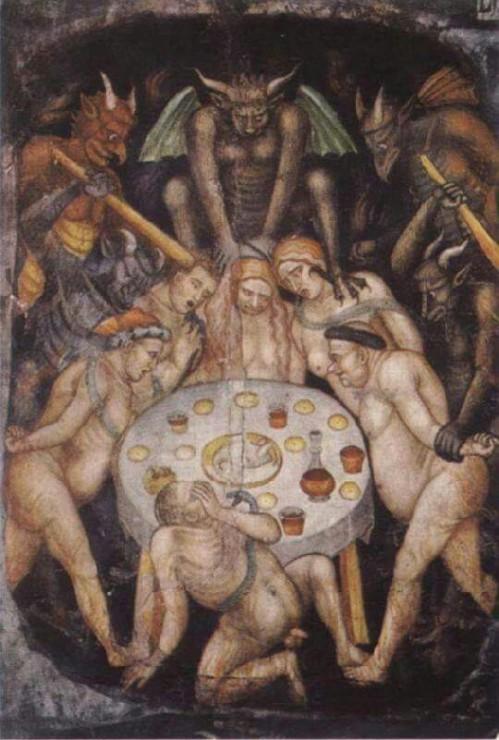 Taddeo di Bartolo - L'inferno: I Golosi, 1396, Cattedrale di San Gimignano.