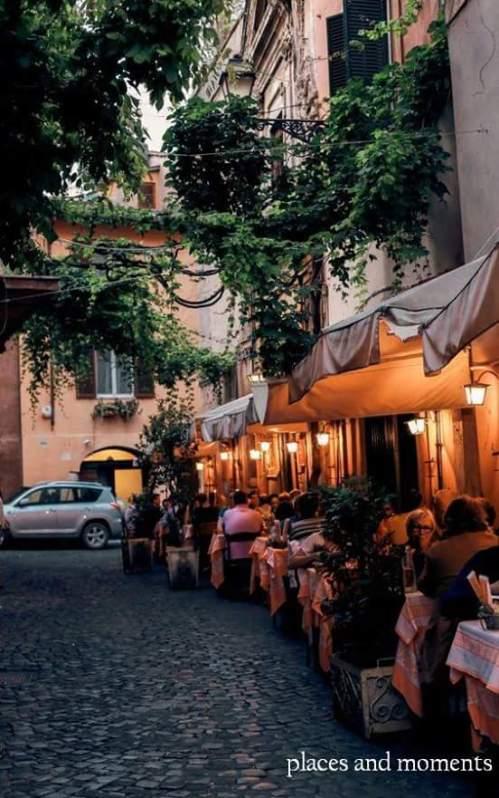 Good evening. Trastevere, Rome.