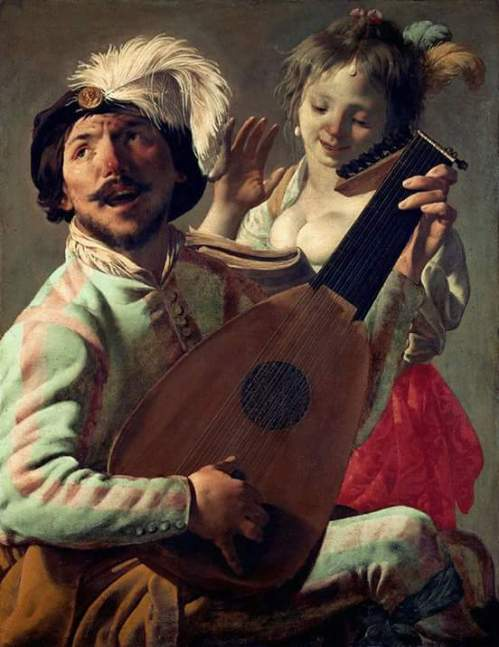 The Duet (1628). Hendrick ter Brugghen (Dutch, 1588-1629). Oil on canvas. Louvre Museum.