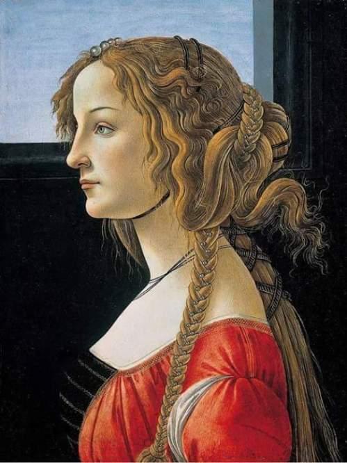 Sandro Botticelli - Portrait de Simonetta Vespucci