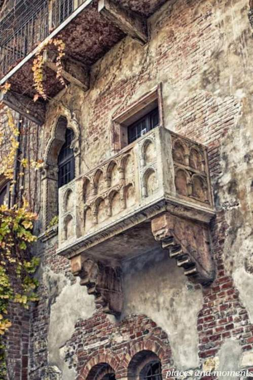 Romeo and Juliet balcony, Verona, Italy.