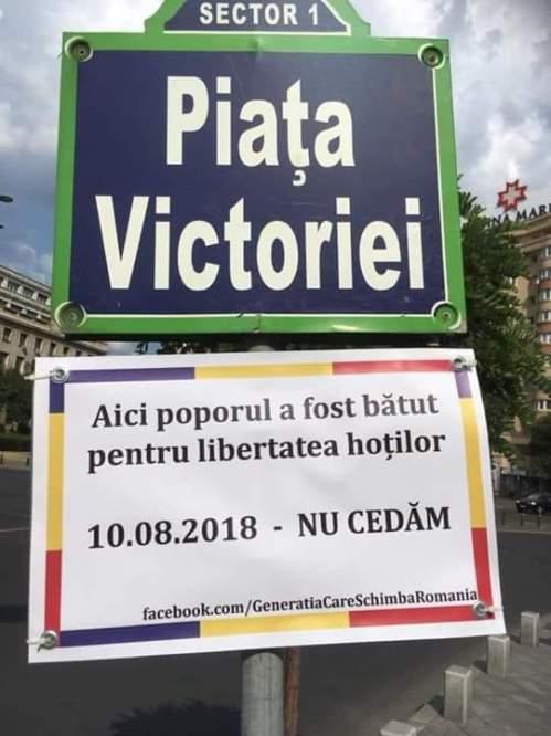Piața Victoriei: Sici poporul s fost bătut pentru libertatea hoților ~10.8.2018~NU CEDĂM