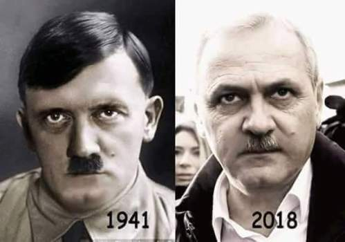 Left: Adolf Hitler  (1941) Right: Liviu Dragnea(2918)