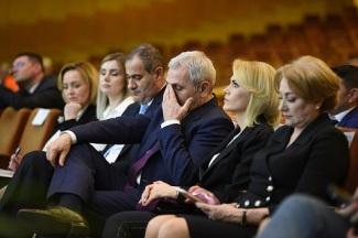 Membri PSD alături de Președintele, Liviu Dragnea la congresul Partidului Social Democrat, în București, sâmbătă, 10 martie 2018. Inquam Photos / Alberto Grosescu