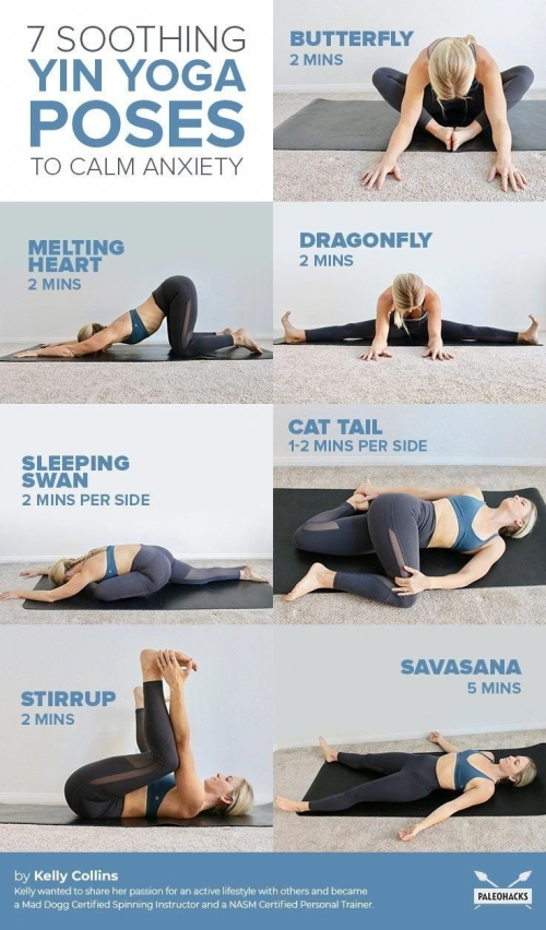 7 soothing Yin Yoga Poses to calm anxiety