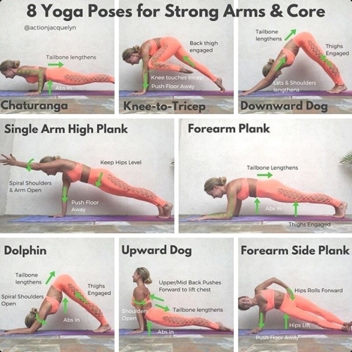 8 yoga poses for strong arms and core