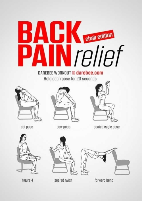Back Pain Relief...Ehile Seated In Your Chair!