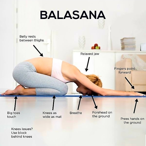 Yoga Poses: BALASANA