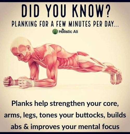 Planking or a few minutes every day will benefit you in many ways