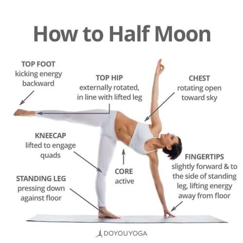 Yoga Poses: Half Moon
