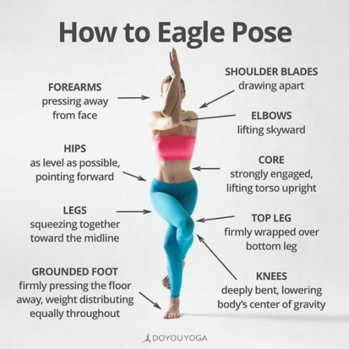 Yoga: how to eagle pose