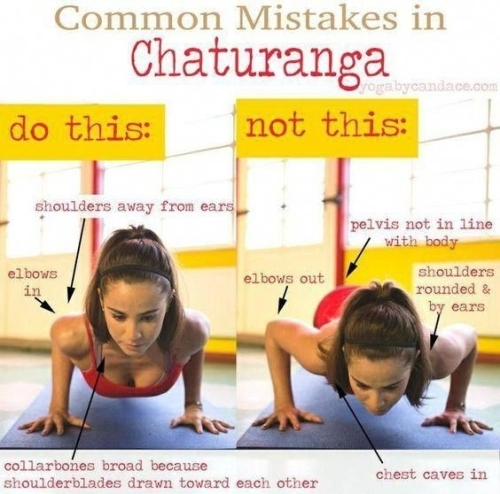 Yoga: Common mistakes in Chaturanga