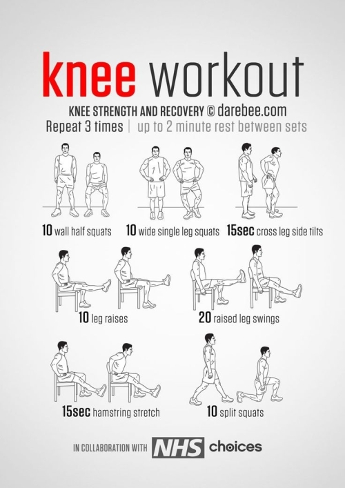 Knee workout strength and recovery