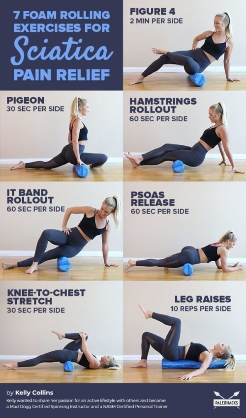 Yoga: 7 foam rolling exercises for sciatica pain relief