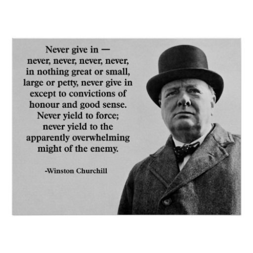Quote Winston Churchill: Never give in