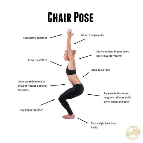 YOGA: HOW TO DO THE CHAIR POSE
