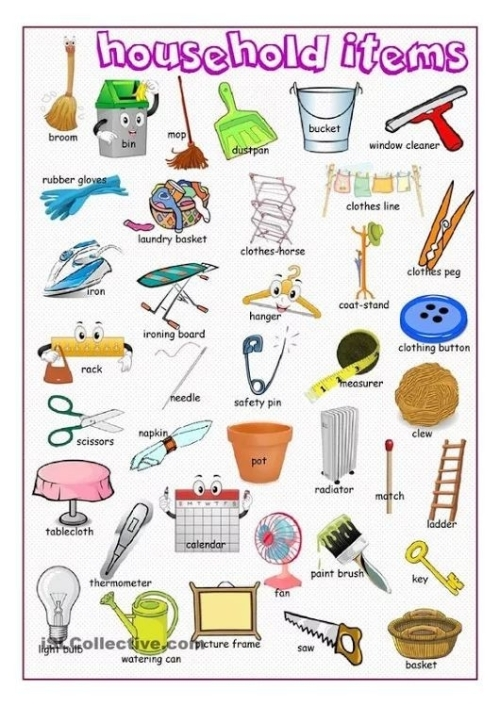 ESL: HOUSEHOLD ITEMS