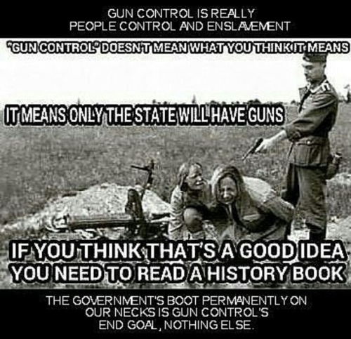 Gun control is really people CONTROL AND ENSLAVEMENT