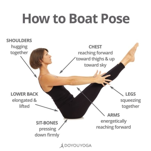 YOGA: HOW TO BOAT POSE