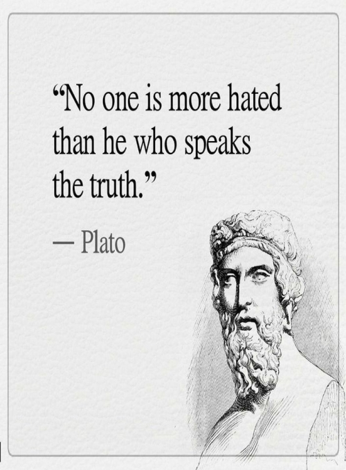 Quote: no one is more hated...Plato