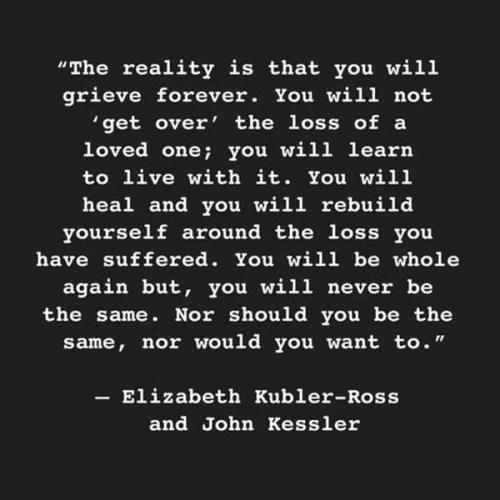 QUOTE: Elizabeth Kubler-Ross and John Kessler