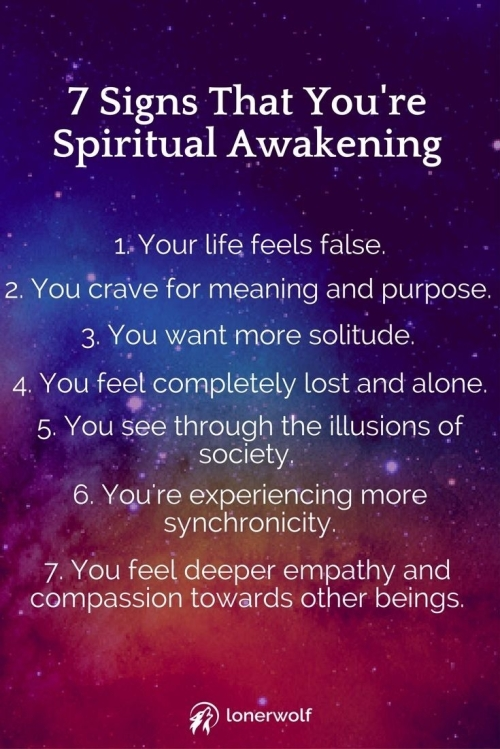 7 signs that you're spiritual awakening