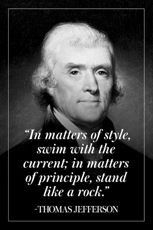 Quote: In matter of style...Thomas Jefferson