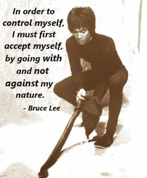 QUOTE: IN ORDER TO  CONTROL MYSELF...