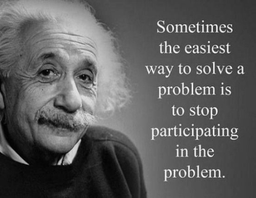 Quotes: Sometimes the easiest way to solve a problem (Albert Einstein)