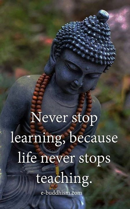 Qoute: Never stop learning...